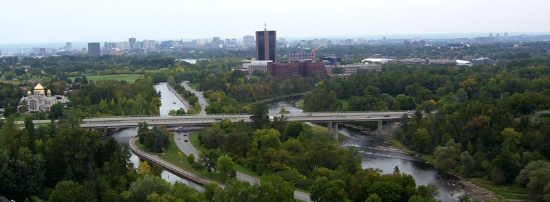 Image of Carleton University from a distance