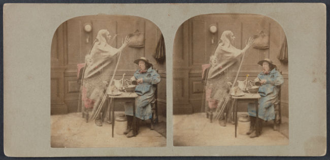 Stereoscopic image called The Ghost in the Stereocope