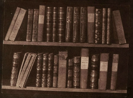 "William Henry Fox Talbot's 1840s photograph ""A Scene in a Library"""