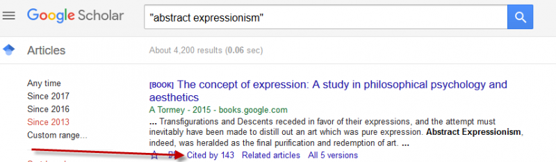 Google Scholar cited by